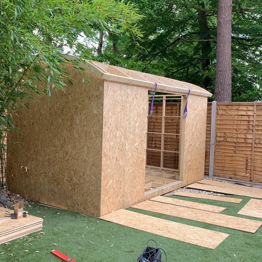 Garden office - OSB materials