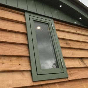 Portrait Shepherd Hut Window