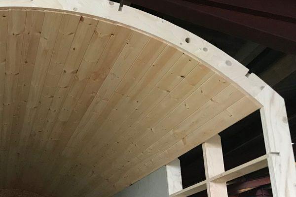 Internal ceiling cladding
