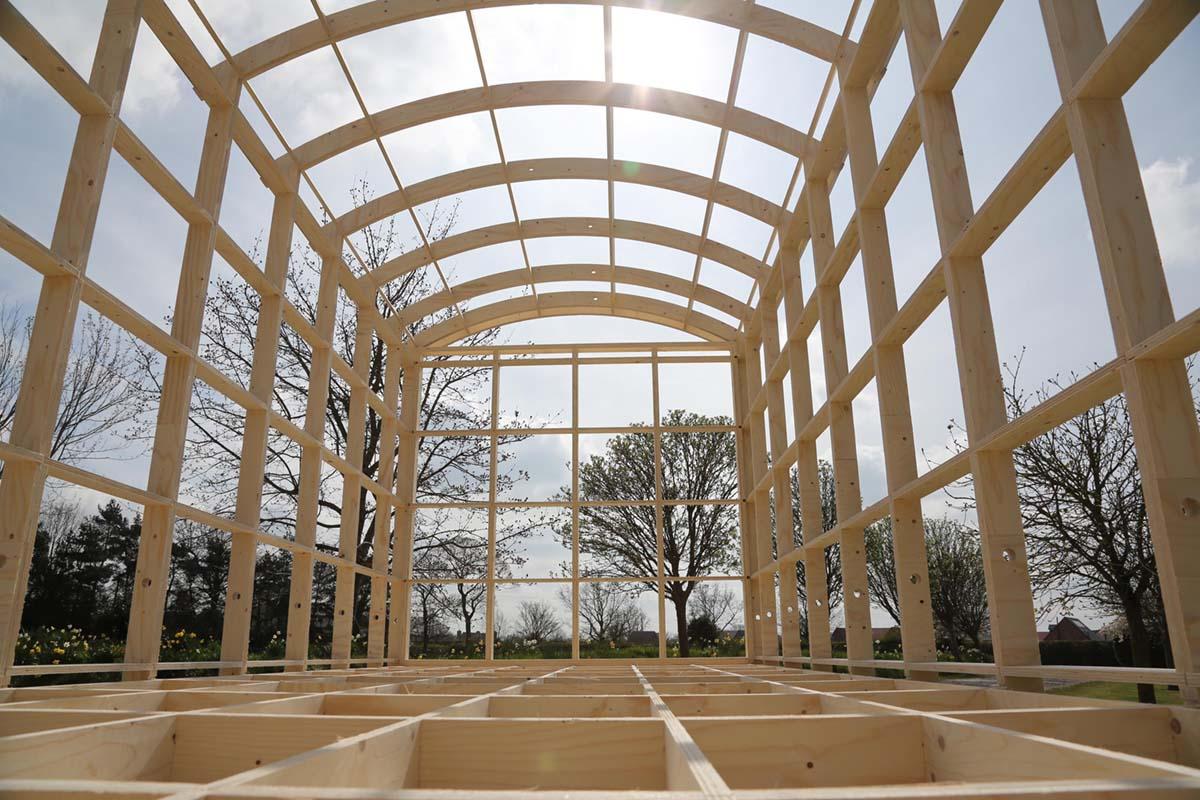 Building our Shepherd Hut frame
