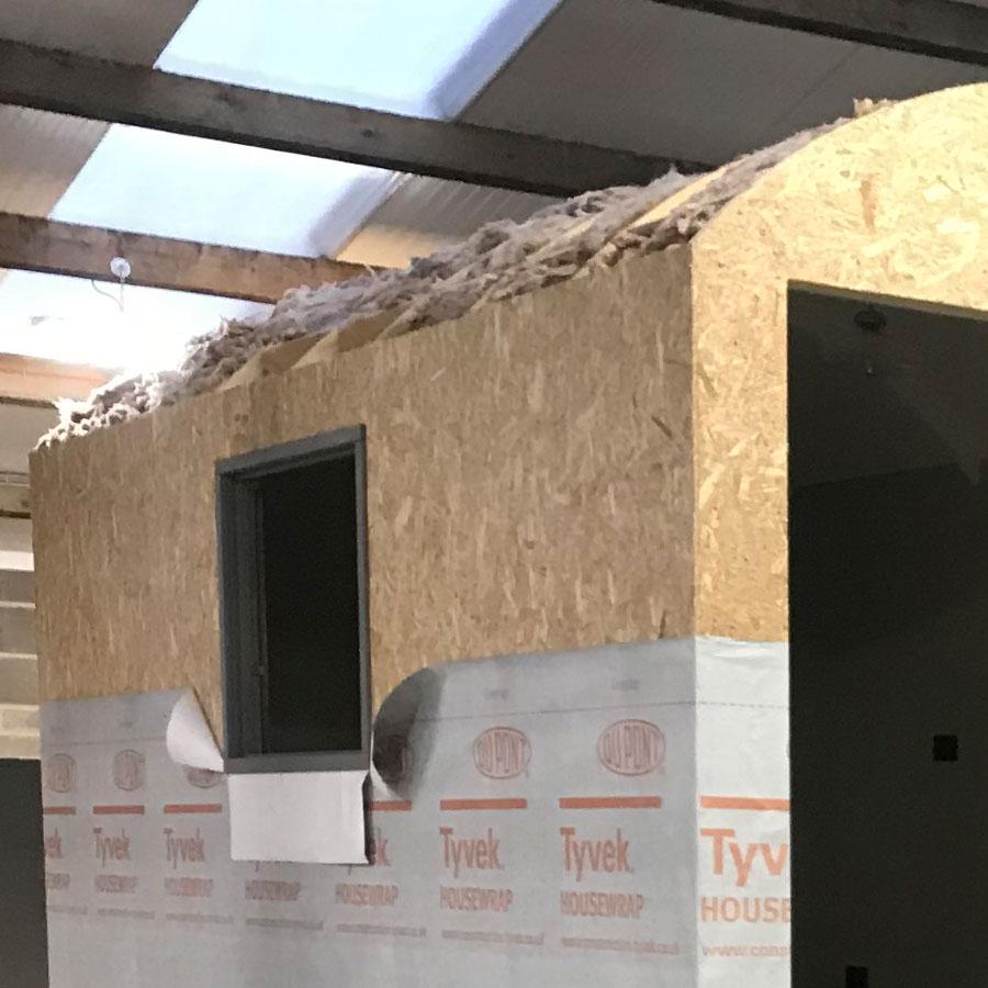 Shepherd hut insulation