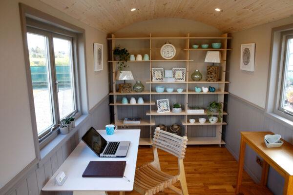 Shepherd Hut Home Office