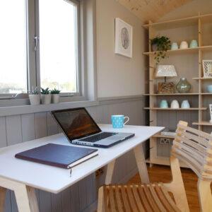 Shepherd Hut Office Desk