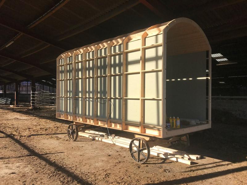 Shepherd Hut Wall Construction