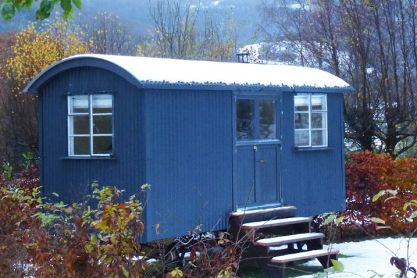 Shepherd Hut Snow