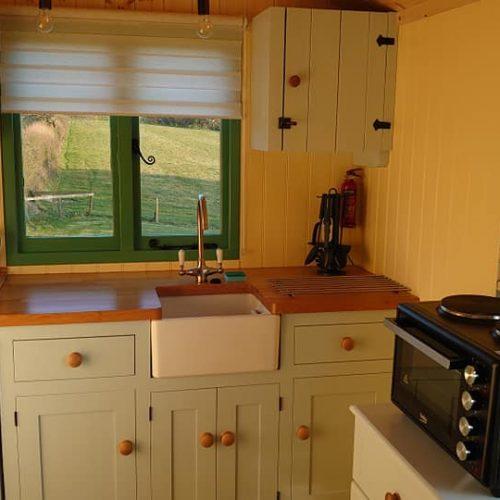 Glamping Hut Kitchen- Cornwall