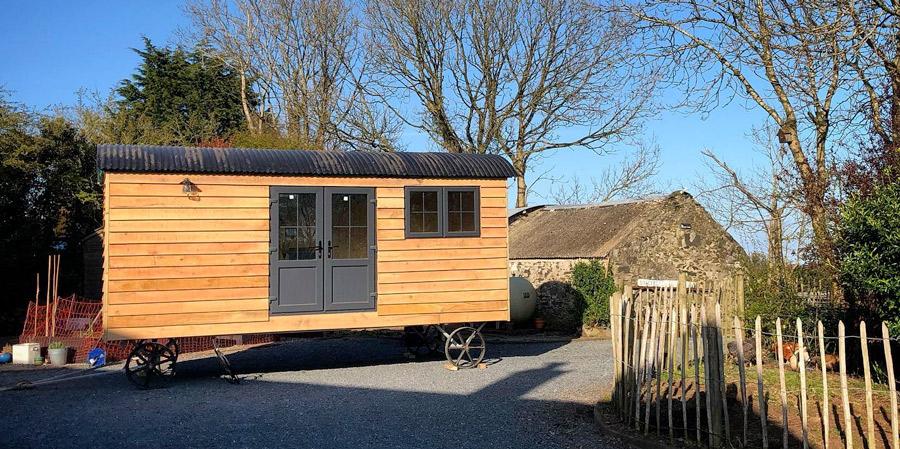 completed shepherd hut