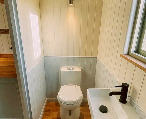 Shepherds Hut Interior - Bathroom