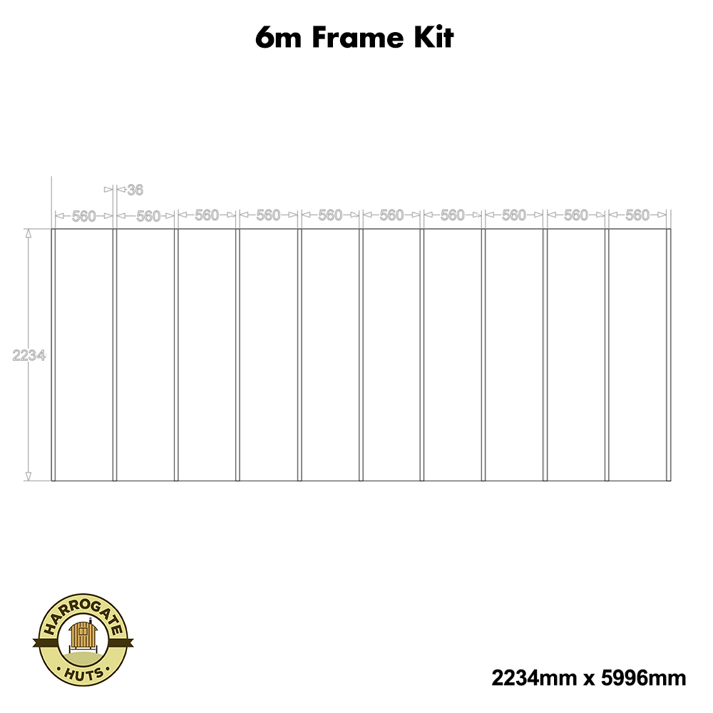 6m Shepherd Hut Frame Kit.
