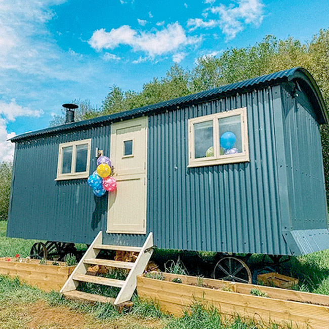 Completed Shepherds Hut - Metal Cladding