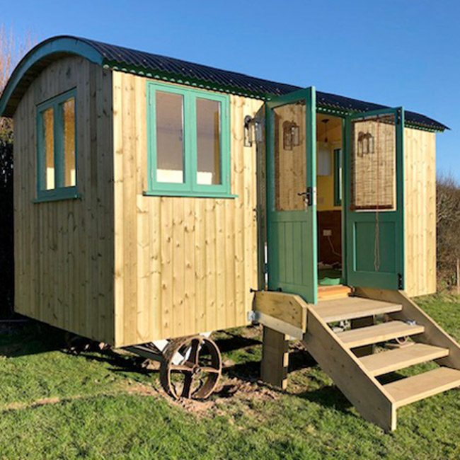 Completed Shepherds Hut - Timber Cladding