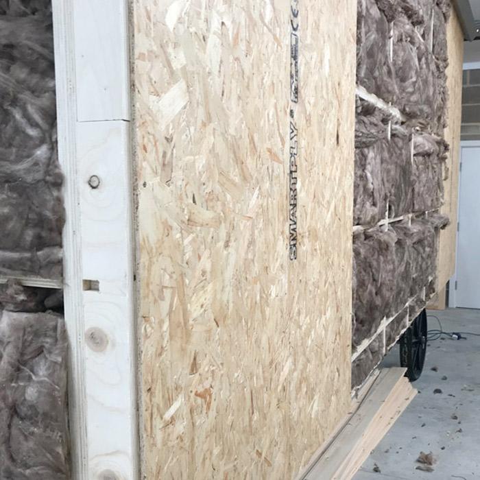 Shepherds Hut Insulation Cavity